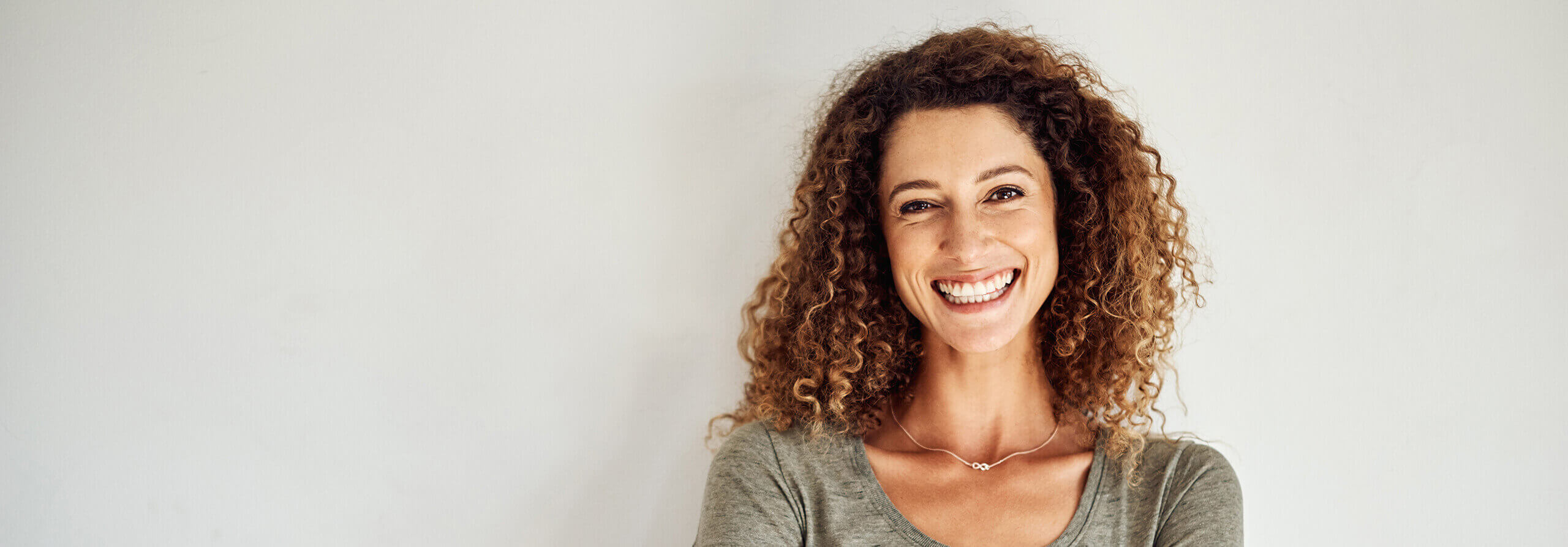 woman with a bright, white smile